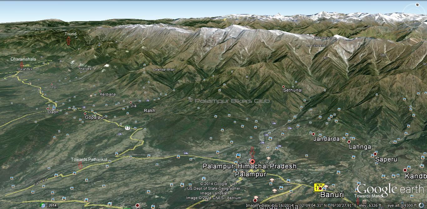 Palampur-Map