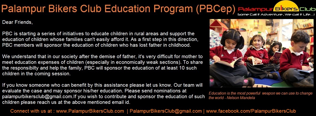 Palampur Bikers Club Education Program