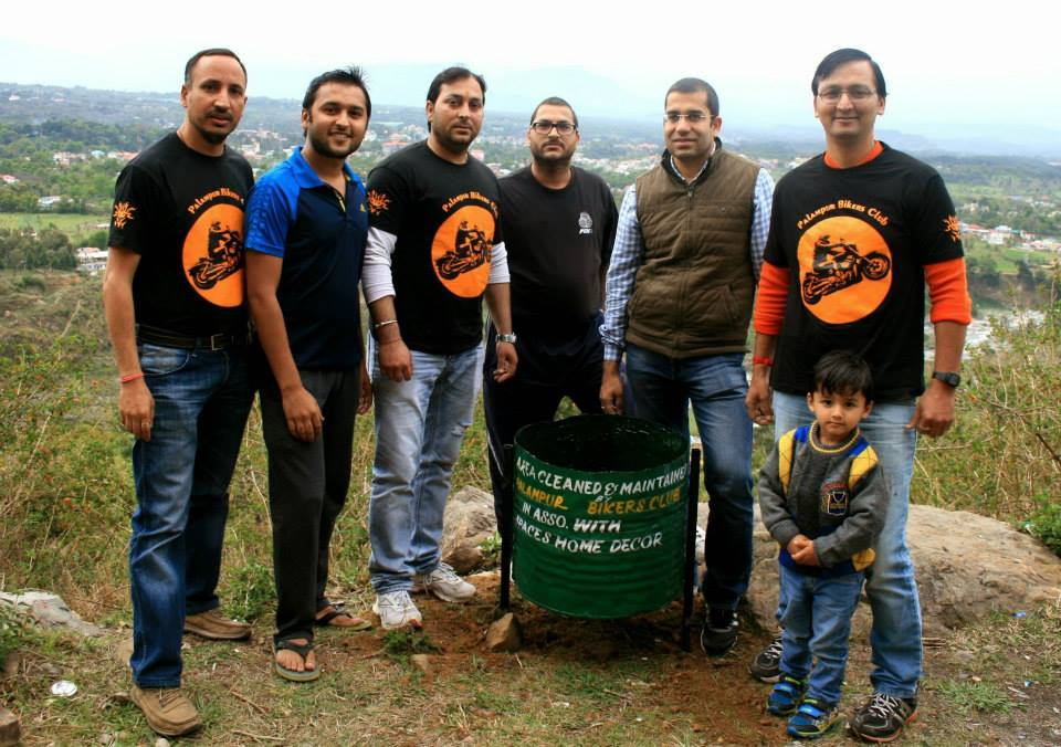 Palampur Bikers Club Dustbins Installation