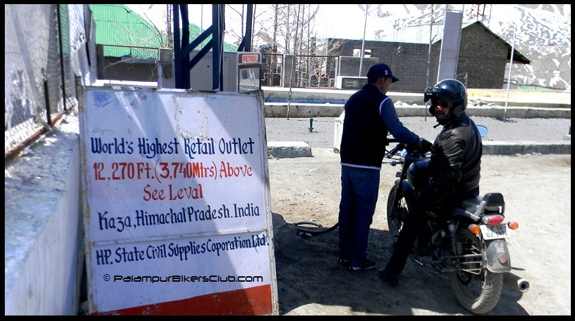 World's highest petrol outlet