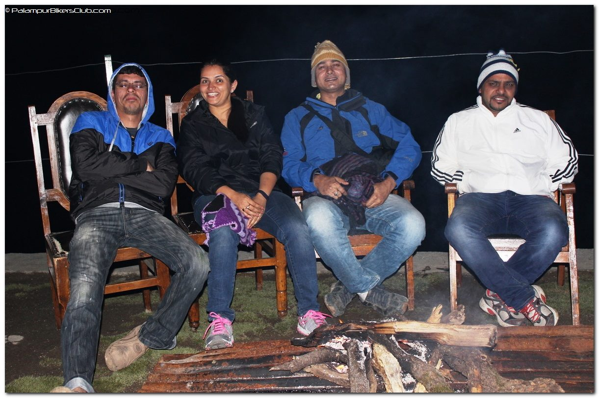 Bone Fire in evening at Triund