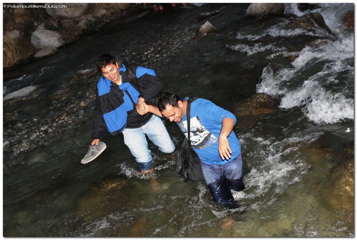 Water crossing at Palampur